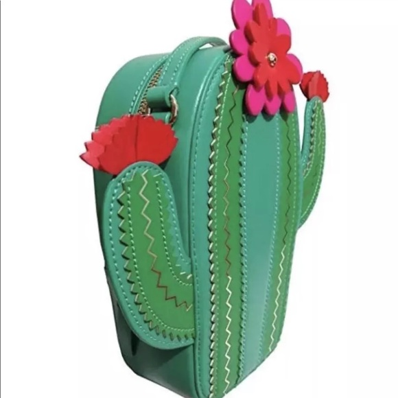 Kate Spade New Horizons Leather Cactus Crossbody Shoulder Bag $249 WKRU5325 NEW